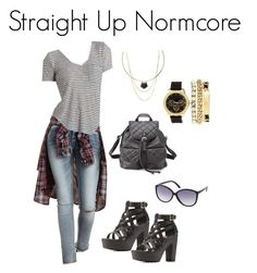 Straight Up Normcore by charlotterusse on Polyvore featuring polyvore, fashion, style, Charlotte Russe, modern, 90s and normcore
