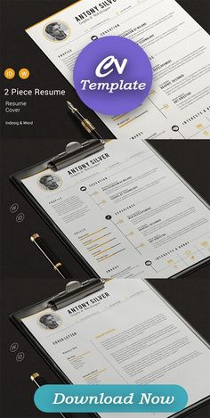 FEATURES INCLUDED Resume Cover Letter CS5 InDesign Files ( INDD ) CS4 InDesign Files ( IDML ) Set of Icons Microsoft Word Files (DOCX) PDF for preview paragraph styles Help file Size : A4 The fonts used are free ( links in the help file*) #clean #coverletter #curriculum #curriculumvitae #cv #designerresume #icons #indesign #job #modern Cv Tips, Resume Tips, Resume Cv, Cv Design, Resume Design, Cv Simple, Job Cv, Modern Cv Template, Creative Cv