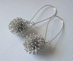 Silver Dandelion Earrings. $17.50, via Etsy.