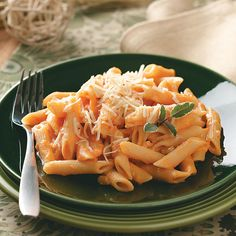 Pasta with Creamy Sweet Potato Sauce Recipe -This creamy pasta dish is the result of combining two different recipes. I often turn it into a main dish by serving a green salad on the side.—Suzanne Appleyard, Queensbury, New York