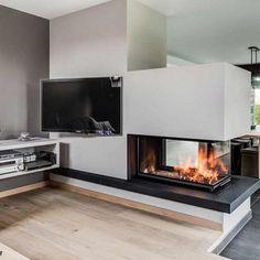 Kamine von Rust aus Guetersloh Bielefeld in WestfalenRust Kaminbau Home Fireplace, Living Room With Fireplace, Fireplace Design, Fireplace Ideas, Living Room Modern, Living Room Designs, Living Spaces, Chimney Decor, Loft Industrial