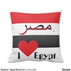 Ägypten - Egypt Kissen Throw Pillows, Blue, La Luna, Pillows, Simple, Toss Pillows, Cushions, Decorative Pillows, Decor Pillows