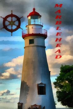 Title  Marblehead Lighthouse  Artist  Dan Sproul  Medium  Painting - Digital