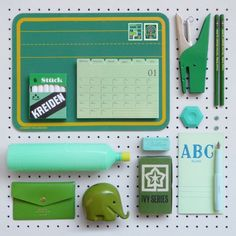 Making a flatlay with various back to school objects