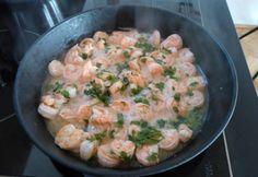 Serpenyőben sütött illatos garnéla Kielbasa, Food 52, Risotto, Potato Salad, Casserole, Seafood, Food Porn, Paleo, Food And Drink