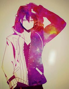 anime, shintaro, and mekakucity actors image Manga Boy, Manga Anime, Anime Art, Hot Anime Boy, Anime Boys, Anime Galaxy, Galaxy Art, Anime Cosplay, Anime Style