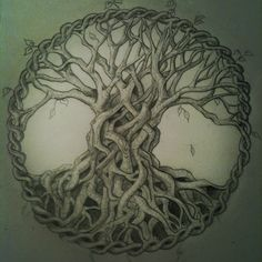 Celtic tree of life drawing roots 30 ideas for 2019 Celtic Tree Tattoos, Willow Tree Tattoos, Tree Of Life Symbol, Celtic Tree Of Life, Celtic Symbols, Celtic Art, Celtic Knots, Celtic Patterns, Celtic Designs
