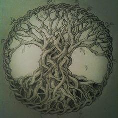 Beautiful Celtic tree of life