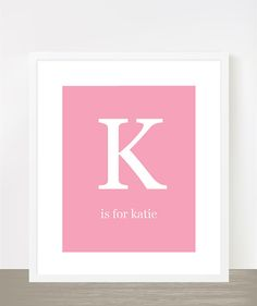 Katie baby name typography poster by madebyaiza on Etsy, $18.00