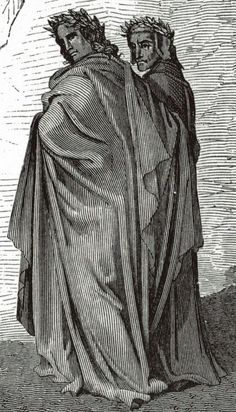 Vergil and Dante, illustrated by Gustave Doré Dante Alighieri, Jules Verne, French Artists, Comedy, Drawings, Illustration, Painting, Image, Artworks