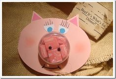 Project to go along with Three Little Pigs or a farm animals unit.  Think of all the animals you could make! Too stinking CUTE!