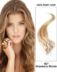 """22"""" 100 Strands Loop Micro Ring Beads Tipped Remy Hair Human Hair Extensions"""