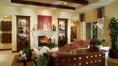 Toll Brothers Relax in the Amalfi family room.