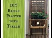 diy raised planter with trellis, container gardening, flowers, gardening
