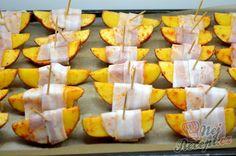 Brambory v slaninovém županu Be A Nice Human, Acorn, Nutella, Healthy Life, Mango, Sweet Potato, Low Carb, Cheese, Fruit
