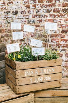 Swedish Midsummer: Boho-Liebe unter freiem Himmel l Hochzeit DIY und Basteln l liebevoll die Sitzordnung gestalten