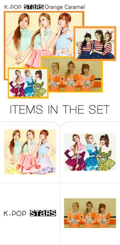 """Orange Caramel"" by cheytheunicorngirl ❤ liked on Polyvore featuring art and kpop"