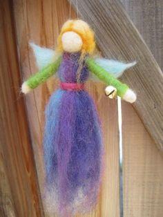 Needle felted Angel Ornament blonde by boridolls on Etsy