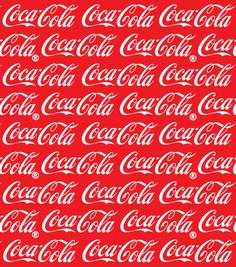 Coca Cola Logo Red Cotton Fabric