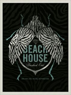 beach house- washed out music gig posters