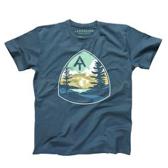 Inspiration: Trips to Cades Cove and the stories from through-hiker family members. This design is printed on a Deep Teal 100% Cotton Tee. It has a slightly fitted unisex cut. Designed in: Greenville,