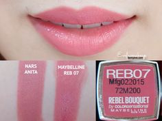 ❥ Swatch : MAYBELLINE REBEL BOUQUET 8 สี เทียบ Counter Brand !! - #Bouquet #brand #counter #Maybelline #Rebel #swatch #ส #เทยบ
