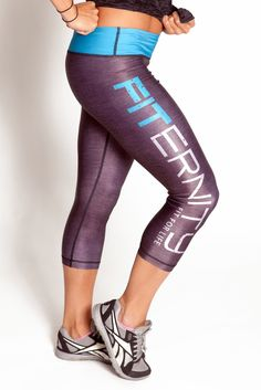 WOMEN'S CROP PANTS v3.0   Heather Gray / Blue  Love my fiternity fam!