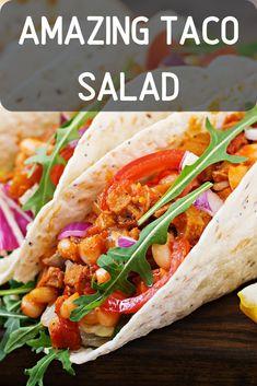 Taco Salad Recipe. whole30 taco salad/ keto taco salad/ veggie taco/ taco dishes/ taco healthy sides salads