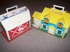 Vintage Little People Fisher Price Play Farm & Play House