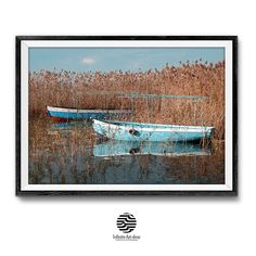 Boats Wall Art Prints,Reed Print,Coastal Print,Ohrid lake Print,Digital Download | Infinite Art Shop