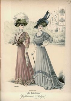 1908 De Grarieuse fashion print.