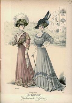 1908 De Grarieuse fashion print.