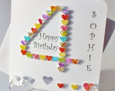 Handmade 3D 3 Card 3rd Birthday Years By CardsbyGaynor