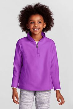Girls' Polartec® Aircore 100 Half-zip Pullover from Lands' End