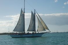 One of several gaffed rigged schooners that sail the bays around Key West, Florida for the enjoyment of the general public.