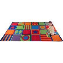 Walmart: KidCarpet.com Patterned Squares Kids Rug