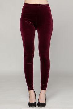 the velvet leggings
