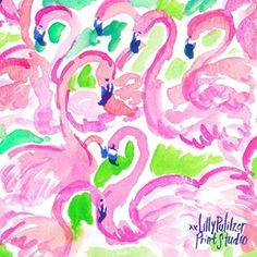 Lily Pulitzer Painting, Lilly Pulitzer Iphone Wallpaper, Print Wallpaper, Lilly Pulitzer Patterns, Lilly Pulitzer Prints, Lily Pullitzer, Emoji, Flamingo Print, Flamingo Fabric