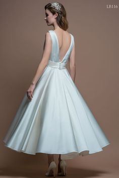 LouLou Bridal Wedding Dress LB116 Lucy Back