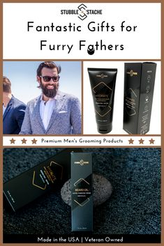 stubble + stache - Premium skincare products for men with beards. Perfect  Gift For DadGifts For DadFathers Day GiftsBeard ... e4d534b108df6
