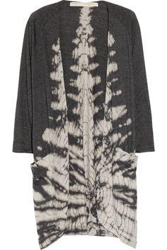 Raquel Allegra Tie-dye cotton-blend jersey cardigan NET-A-PORTER.COM