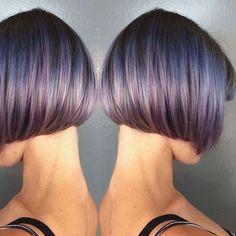 Ещё один тренд – это боб с эффектом мокрых волос.