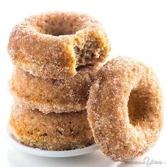 This keto low carb donuts recipe is made with almond flour. They're even paleo, gluten-free, and easy using common ingredients!