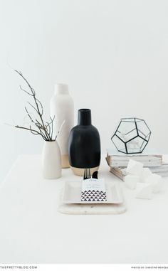 Stunning black and white Christmas decor   Minimalistic   photography by Christine Meintjies