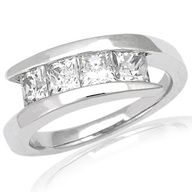 Moissanite, more fire and brilliance than a diamond.