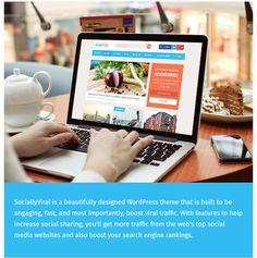 SociallyViral è un tema WordPress coinvolgente che è stato progettato per contribuire a rafforzare le azioni sociali e ottenere un traffico più virale da siti top del web social media.