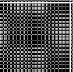 PROFILE DRAFT for Double Weave Placemats (2 blocks to be woven on 8 shafts)