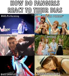 How fan girls react to their bias being awesome (♥ it!)