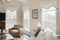 Perfect simple valance for lake house