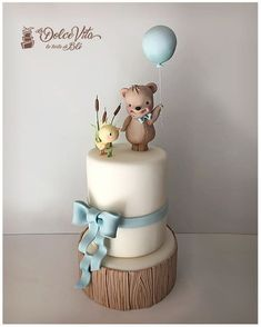 21 Ideas For Baby Boy Baptism Teddy Bears Baby Birthday Cakes, Baby Boy Cakes, Baby Shower Cakes, Birthday Kids, Teddy Bear Birthday Cake, Gateau Baby Shower Garcon, Teddy Bear Cakes, Teddy Bears, Cake Designs For Kids